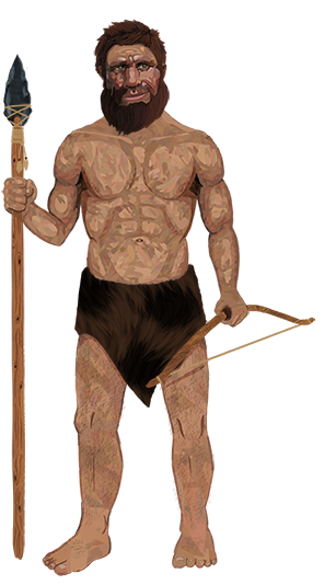 Full Body Caveman - Mosaic Body - Resized